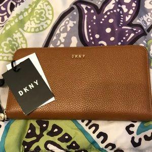 DKNY Tan Leather Wallet